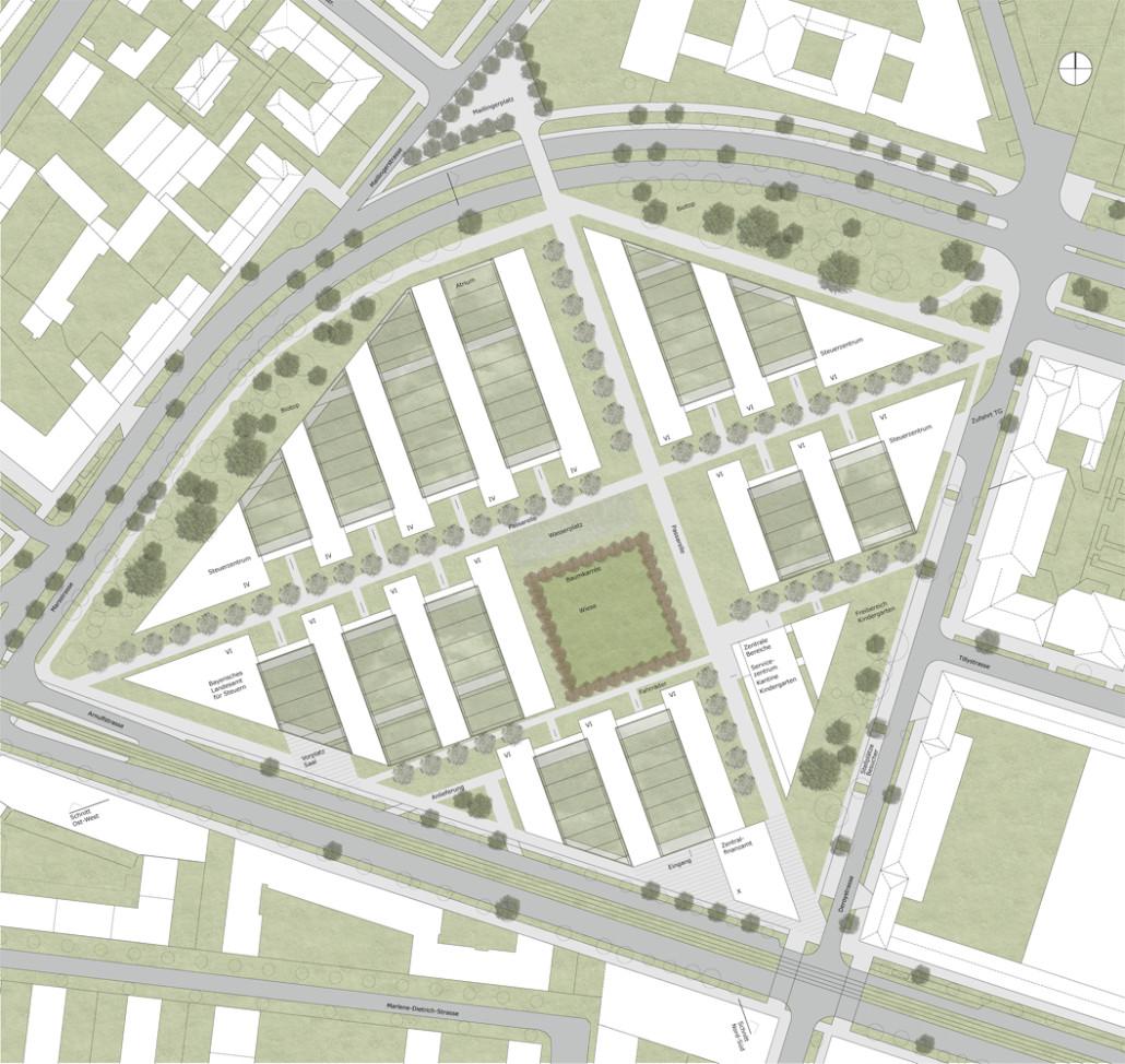Neubau Steuerverwaltung München – Wettbewerb – Fischer Z – Architekten